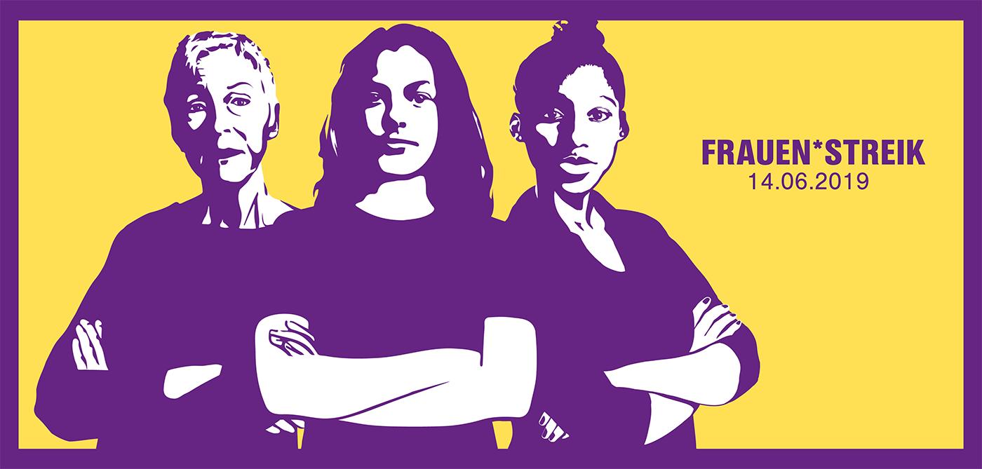 Kampagnenmotiv: Frauenstreik