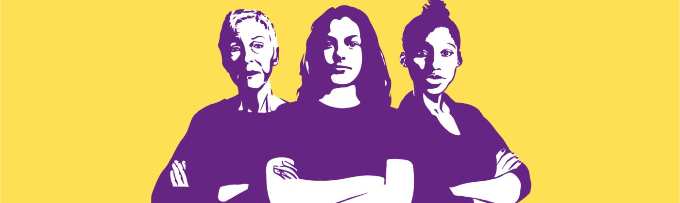 Frauenstreik - Fahnen